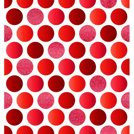 FF402-CR2M Shiny Objects - Holiday Twinkle 2 - Lotta Dot - Cranberry Metallic Fabric