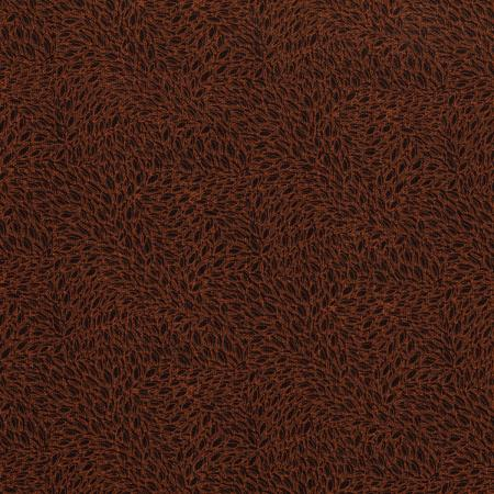 3221-006 Hopscotch - Leaves In Motion - Coffee Fabric