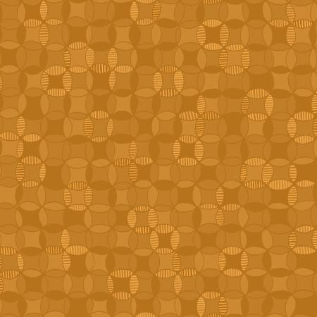 3641-001 Hopscotch - Cathedral Windows - Caramel Fabric 1