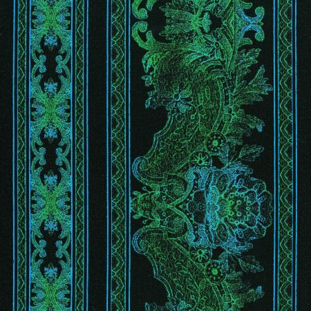 3012-003 Burano - Lace Border - Turquoise Fabric