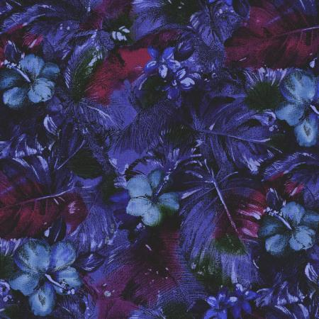 2793-004 Casablanca - Floral - Blue Fabric