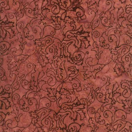 1767-003 Malam Batiks - Bellflower - Dusty Rose Fabric