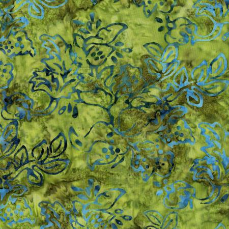 2979-007 Malam Batiks IV - Jewel Box - Khaki Batik Fabric