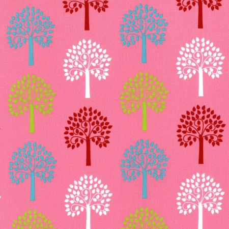 2816-003 Fairy Tales - Trees - Pink Fabric