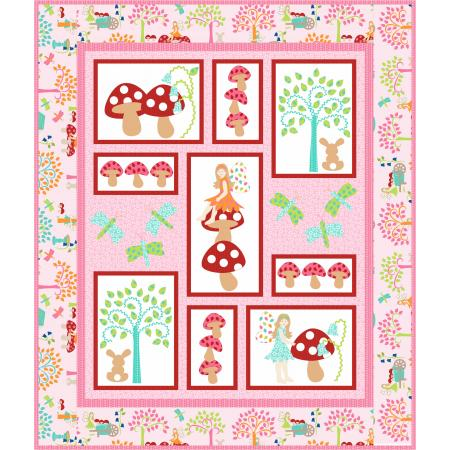 9653-337 Fairy Tales - Pretty In Pink Quilt Kit