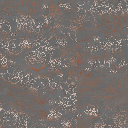 PS104-GY3M Lilac & Sage - Toile - Gray Copper Pearl Metallic Fabric 1