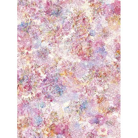 RJ807-CA1D Arcadia - Lacy Pompom - Carnation Digiprint Fabric