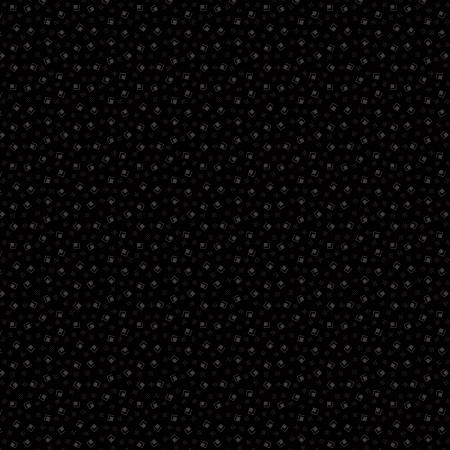 RJ502-BB4 Bare Essentials Deluxe - Sugar Cubes - Black on Black Fabric