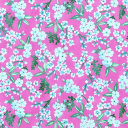 3413-003 Beach Bash - Flower Shower - Fuchsia Fabric