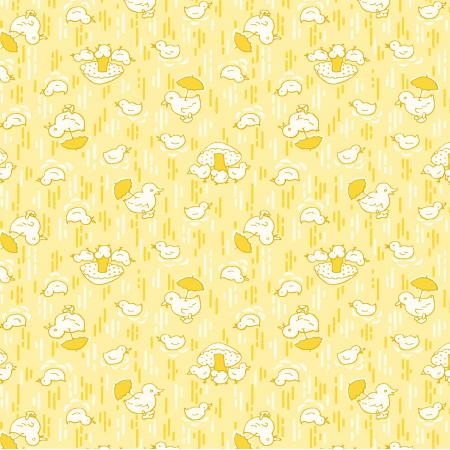 3593-001 Everything But The Kitchen Sink XIV - Cute Chicks - Butter Fabric