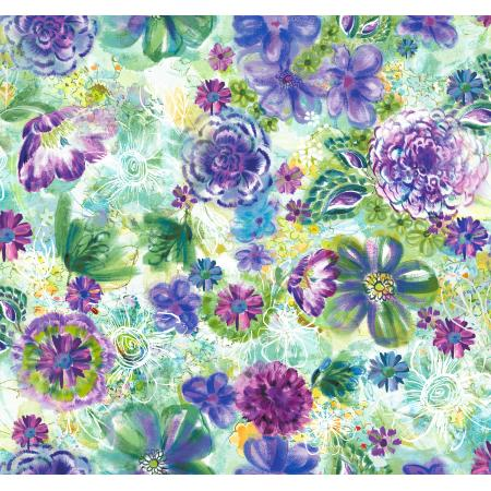 RJ301-SP2D Fiorella - Floral Eclipse - Spring Digiprint Fabric