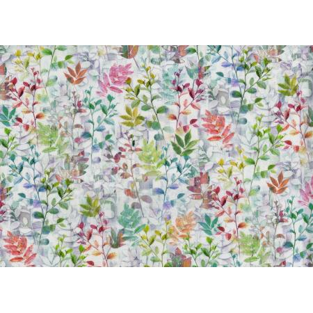 3273-001 Reverie - Luminous Leaves - Opal Digiprint Fabric