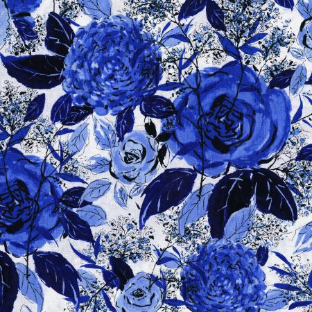 3275-002 Rose Hutch - Favorite Floral - Delft Fabric