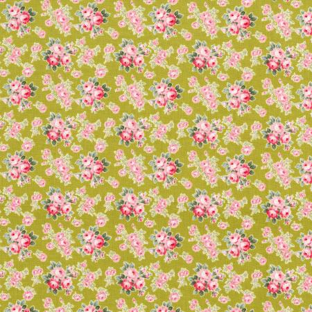2935-004 Mon Cheri - Rose Bouquet - Pistachio Fabric