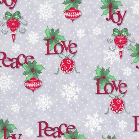 2735-003 Christmas Wishes - Tidings Tumbler - Mist Fabric